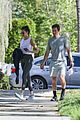 nina dobrev shaun white phone call workout sighting 01