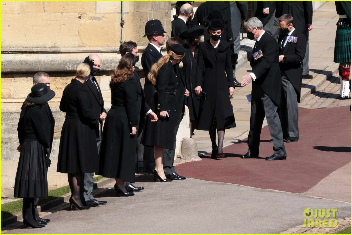 princess beatrice and eugenie arrive funeral 114543548