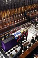 queen elizabeth sits solo at prince philip funeral 01