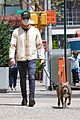 justin theroux takes his dog kuma to a park 01