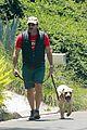 jon hamm soaks up sunny weather walk with his dog 01