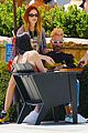 adam levine behati prinsloo colorful outfits for lunch 01