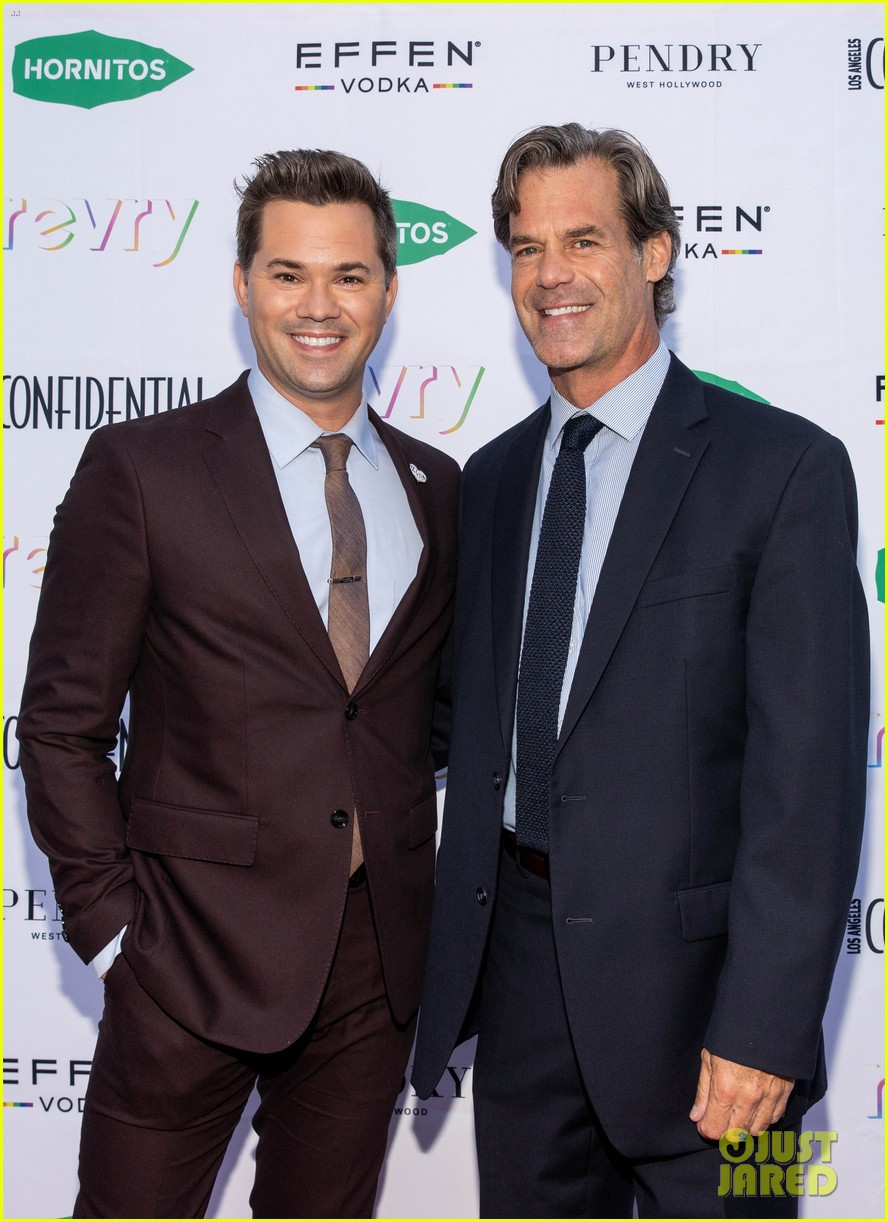 andrew rannells tuc watkins couple up for portrait of pride event 154567175