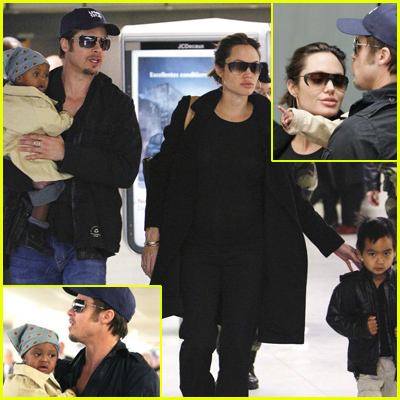 Brad And Angelina Returning Home