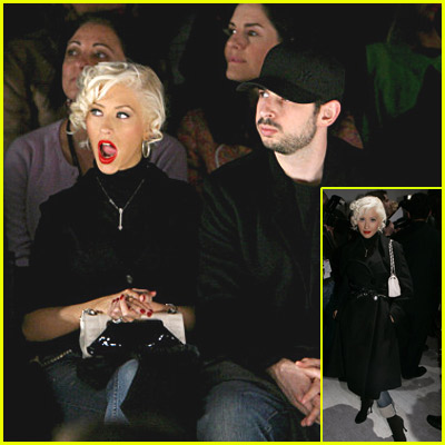 Christina Aguilera At Fashion Week