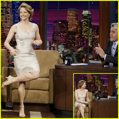 Jodie Foster Jigging On Jay Leno