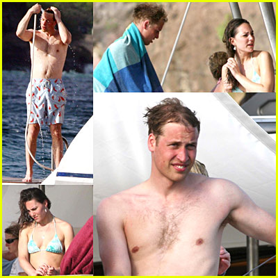 Prince William Shirtless