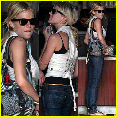 Sienna Miller At Urth Cafe