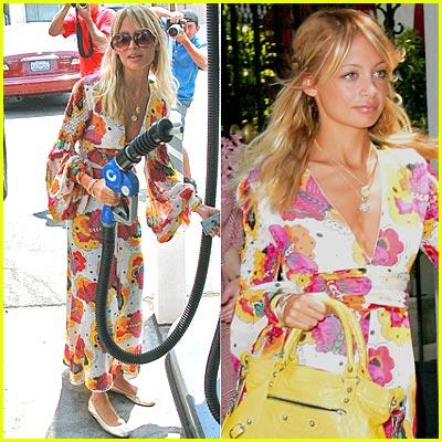 Nicole Richie Wearing Kimono