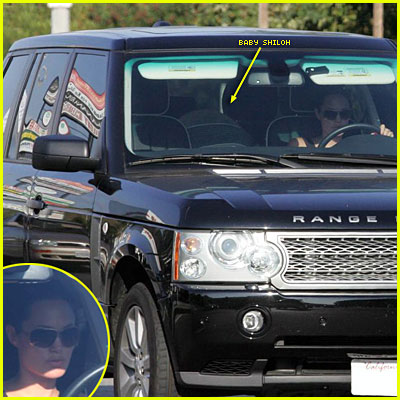 Angelina Takes Shiloh for a Ride in Her Range Rover