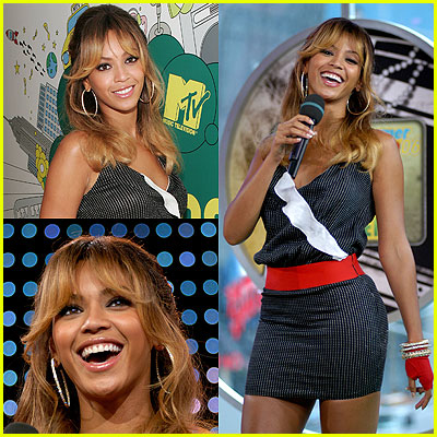 Beyonce at TRL July 12