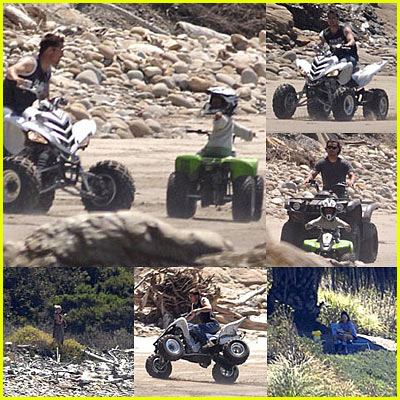 Brad & Maddox Riding ATVs!!!!