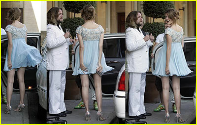 Up Mischa Barton's Dress