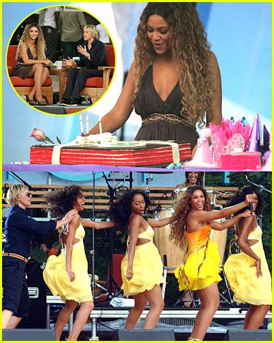 Beyonce @ The Ellen Show
