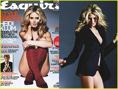 Heidi Klum Naked on Esquire Cover