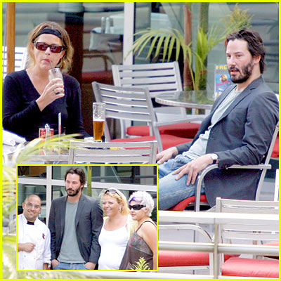 Keanu Reeves & Girlfriend: Dinner Date