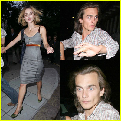 Keira Knightley and Rupert Friend eat at San Lorenzo