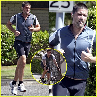 matthew fox running biking