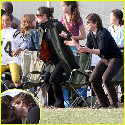 Tom & Katie Take Soccer Sidelines
