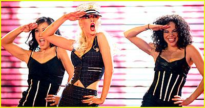Christina Aguilera Performs for NBA