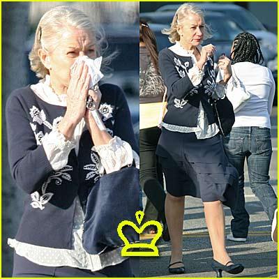 Helen Mirren... Blows Her Nose