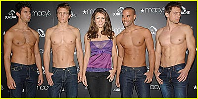 Liz Hurley Likes Shirtless