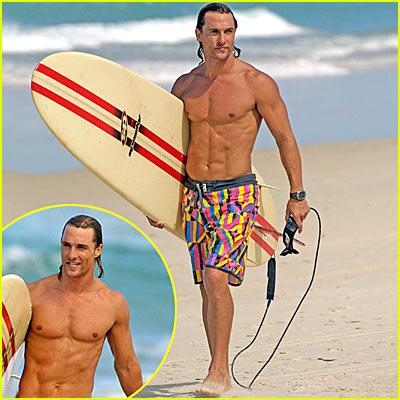 Matthew McConaughey is a Surfer Dude