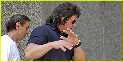 Stallone's Hotel Room gets Raided!!