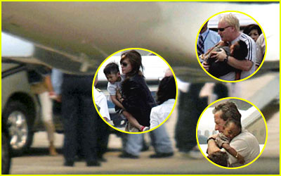 Angelina Carries Pax Home