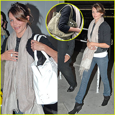 Cameron Diaz Totes Around New Studs