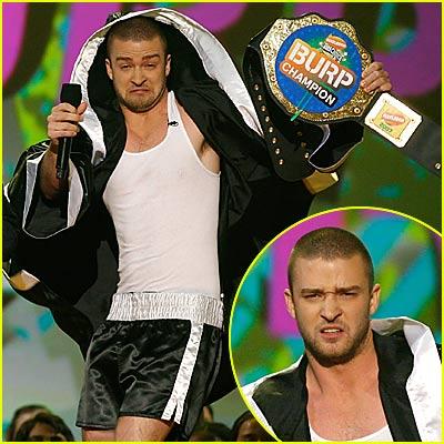 Justin Timberlake in Boxer's Shorts
