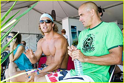 Matthew McConaughey Gets Surfing Tips From Kelly Slater