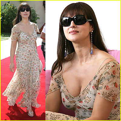 Monica Bellucci's Flower Power