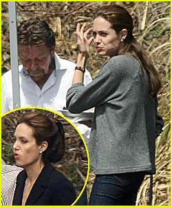 Angelina Jolie Shoots St. John Ads