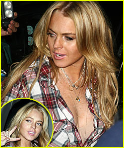 Lindsay Loves Leaving It Unbuttoned