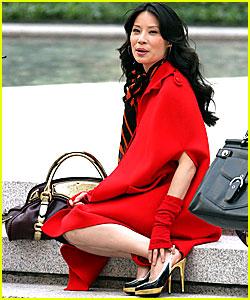 Lucy Liu Goes Into Mafia Mode