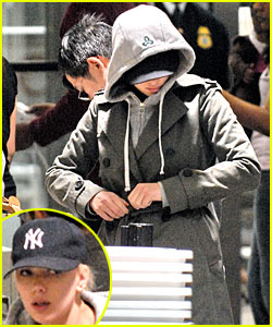 Scarlett Johansson is Under Cap and Hood