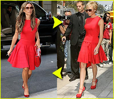 Fashion Faceoff: Posh's Red Hot Look
