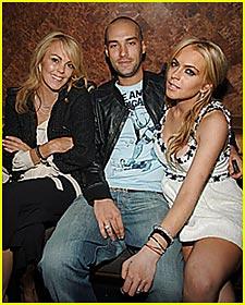 Calum Best & Lindsay Lohan Kiss