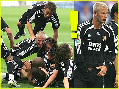 David Beckham's On-Field Orgy