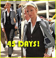 Paris Hilton: 45 DAYS IN JAIL!!!