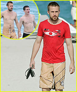 Ryan Gosling Goes Shirtless
