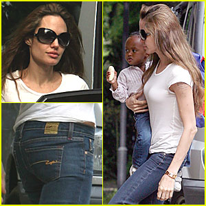 Angelina Joins Brad For the Morning Drop-Off