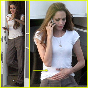 Angelina Jolie on the Set of 'Wanted'