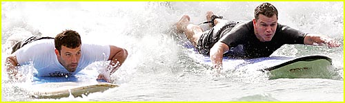 Affleck, Damon Hit the Surf