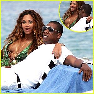 Beyonce & Jay-Z Soak in St. Tropez