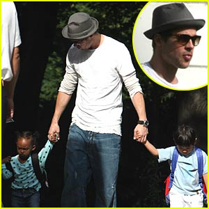 Brad Pitt Resumes Daddy Duties