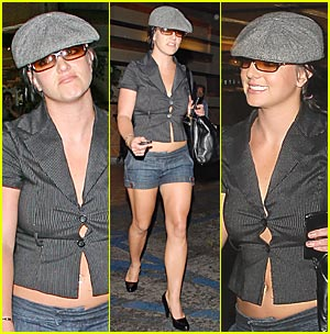 Britney Almost Loosens Up Her Buttons