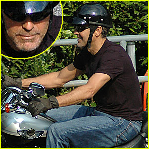 George Clooney's Motorcycle Madness