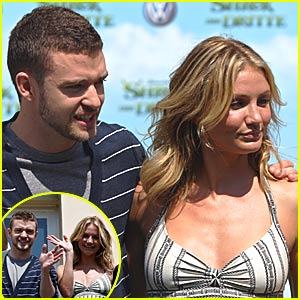 Cameron Diaz  Justin Timberlake on With Cameron     Again    Cameron Diaz  Justin Timberlake   Just Jared